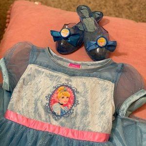 Disney Princess Cinderella dress and shoes